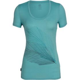 Icebreaker Tech Lite Plume SS Scoop Shirt Women ocean